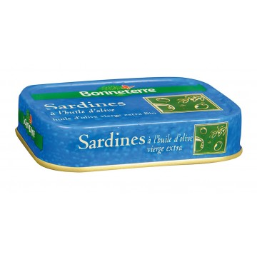 Sardines huile d'olive bio