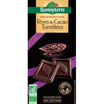Chocolat dégustation noir fèves de cacao torréfiées