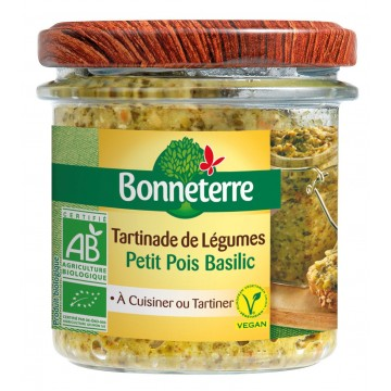 Tartinades de légumes - petit pois basilic