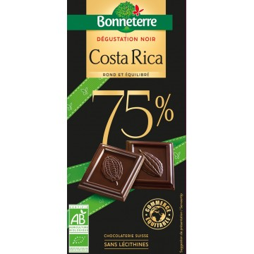 Chocolat dégustation noir costa rica 75%