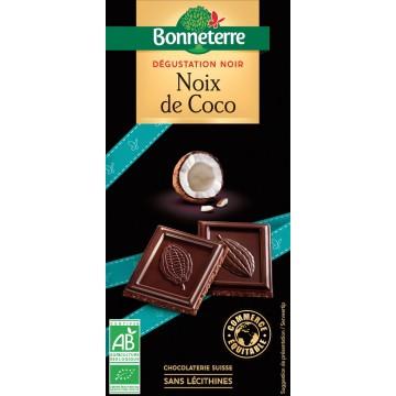 Chocolat dégustation noir noix de coco