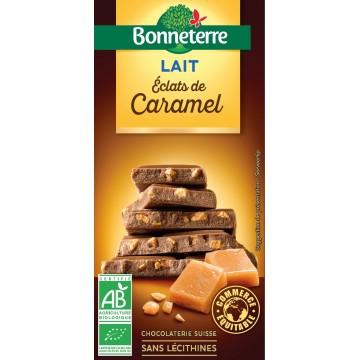 Chocolat lait éclats de caramel
