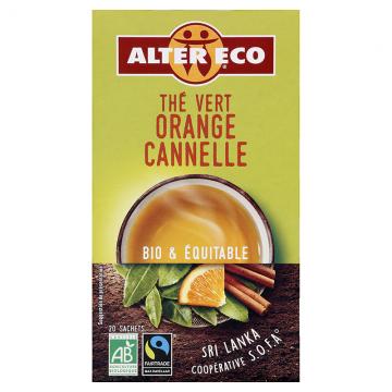 Thé vert orange cannelle