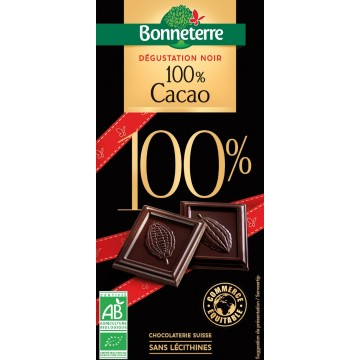 Chocolat dégustation noir 100% cacao