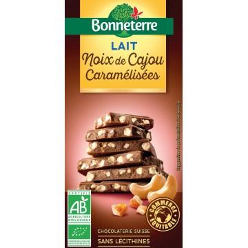Chocolat lait noix de cajou caramélisées