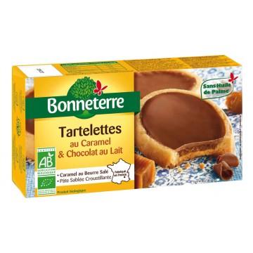 Tartelettes caramel et chocolat au lait