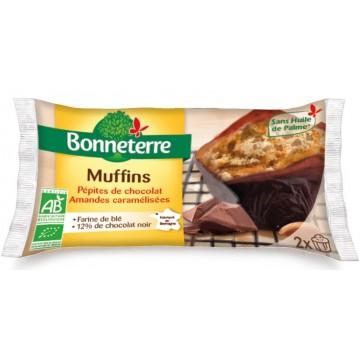Muffins pépites de chocolat amandes caramelisées