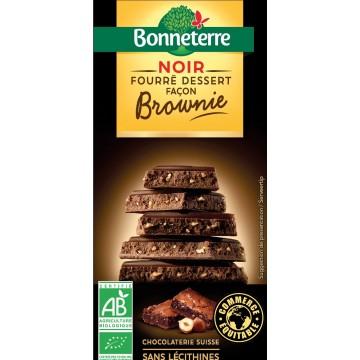 Chocolat noir fourré dessert façon brownie