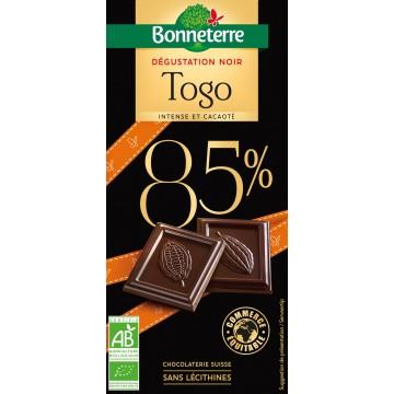 Chocolat dégustation noir togo 85%