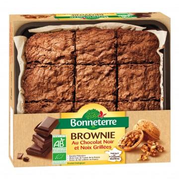 Brownie au chocolat noir et noix grillées