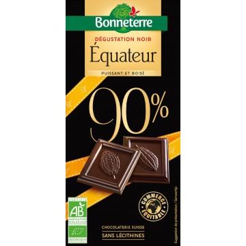 Chocolat dégustation noir Equateur 90%