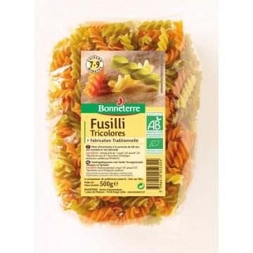 Fusilli tricolores (torsades)