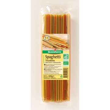 Spaghetti tricolores