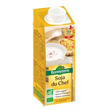 Soja du chef (source d'omega 3, seulement 17% de mg)
