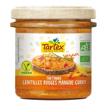 Tartinade lentilles rouges mangue & curry