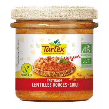 Tartinade lentilles rouges chili