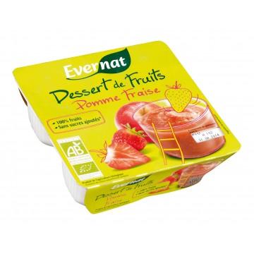 Dessert de fruits pomme fraise