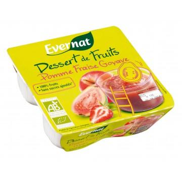 Dessert de fruits pomme fraise goyave