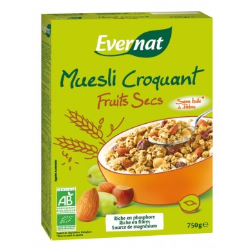 Muesli croquant fruits secs