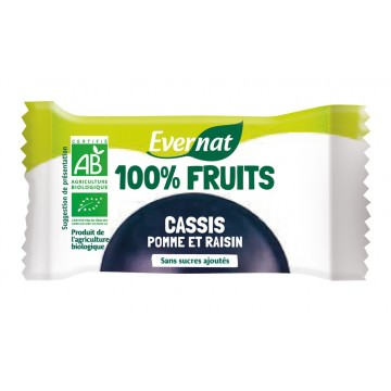 Barres 100% fruits cassis
