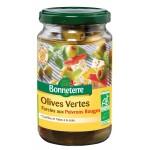 Olives vertes fourrées aux poivrons rouges