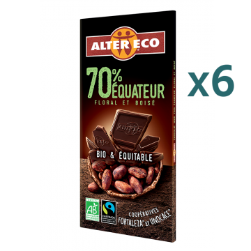 Chocolat noir Equateur 70% (5+1 offert)