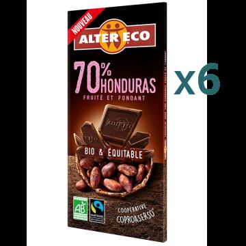 Chocolat noir 70% Honduras (5+1 offert)