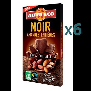 Chocolat noir amandes entières (5+1 offert)