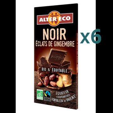 Chocolats noir éclats de gingembre (5+1 offert)