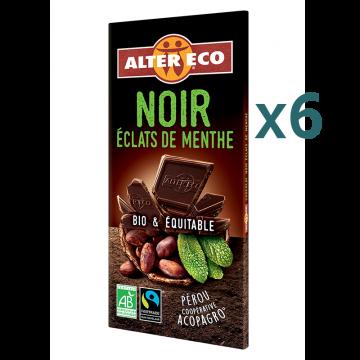 Chocolat noir éclats de menthe (5+1 offert)