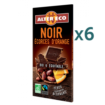 Chocolat noir écorces d'orange (5+1 offert)