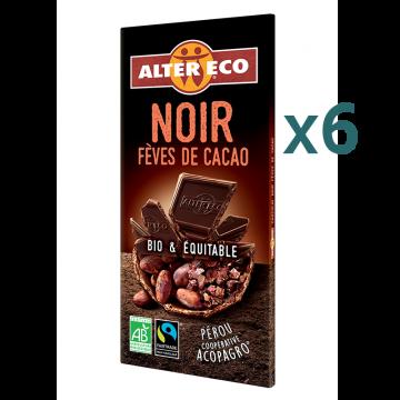 Chocolat noir fèves de cacao (5+1 offert)