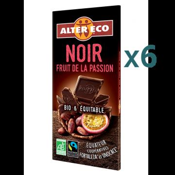 Chocolat noir fruit de la passion (5+1 offert)