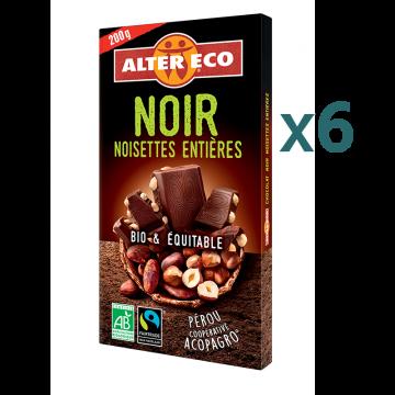 Chocolat noit noisettes entières (5+1 offert)