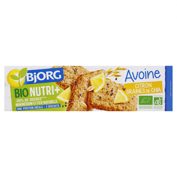 Avoine citron graines de chia bio