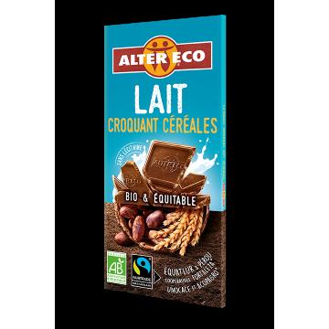 Chocolat lait croquant Céréales