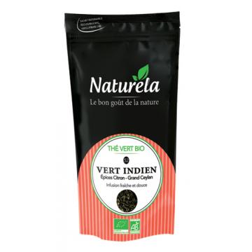 Thé Vert Indien Epices Citron Bio - Ceylan - 100g