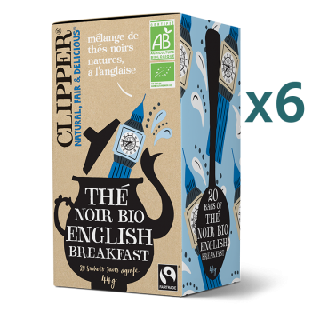 Thé noir English Breakfast bio (5+1 offert)