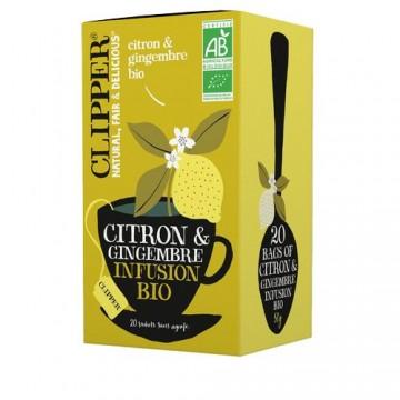 (5+1 offert) Clipper Infusion Citron & Gingembre bio