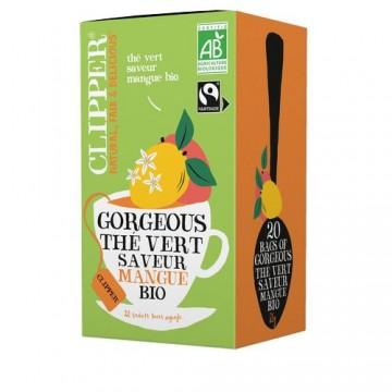 (5+1 offert) Clipper Gorgeous Thé vert saveur mangue bio