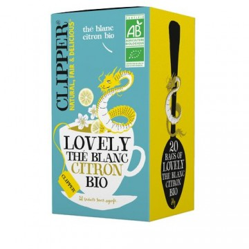 (5+1 offert) Clipper Lovely Thé Blanc Bio Citron bio