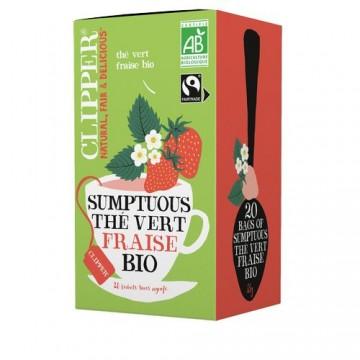 (5+1 offert) Clipper Sumptuous Thé vert fraise bio