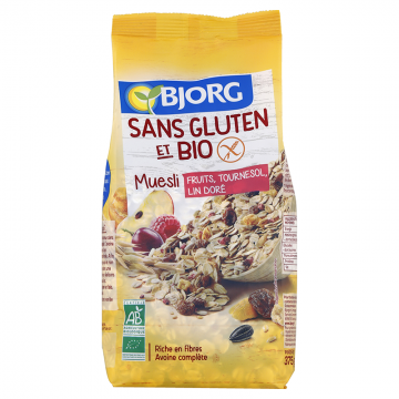 Muesli fruits, tournesol, lin doré bio
