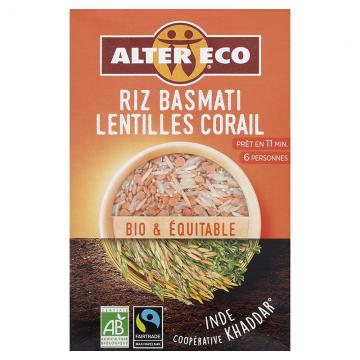 Riz basmati lentilles corail - 400g