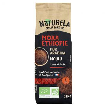 Café Moulu Moka Ethiopie Pur Arabica