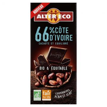 Chocolat noir 66% Côte d'Ivoire